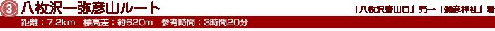 3.八枚沢 ― 弥彦山ルート